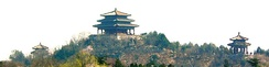 Jingshan, the highest point in the old walled city of Beijing.