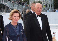 King Harald V and Queen Sonja of Norway (reigning since 1991) in 2012.