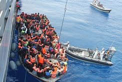 Libya has emerged as a major transit point for people trying to reach Europe