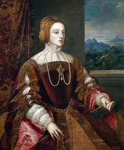 Isabella of Portugal, Charles's wife. Portrait by Titian, 1548