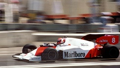 Niki Lauda in the 1984 championship winning McLaren MP4/2