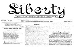 Liberty, an influential American individualist anarchist journal