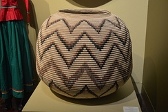 Corita basket on display at the Museo de Arte Popular, Mexico City