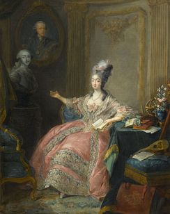 Marie Joséphine, Countess of Provence, Louis Stanislas' wife, by Jean-Baptiste André Gautier-Dagoty [fr], 1775.