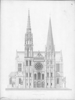 West elevation of the Cathedral of Notre-Dame de Chartres