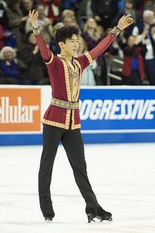 Nathan Chen after his free skate from the 2017 U.S. Figure Skating Championships