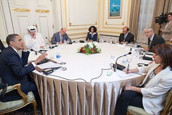 4 June 2009 − after his speech A New Beginning at Cairo University, U.S. President  Obama participates in an roundtable interview in 2009 with among others Jamal Khashoggi, Bambang Harymurti and Nahum Barnea.
