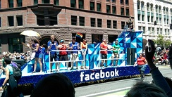 Facebook parade float in San Francisco Pride 2014