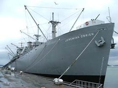 The Liberty Ship SS Jeremiah O'Brien, an example of a ship listed in the National Register. This ship is also a National Historic Landmark.