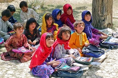 Young school girls in Paktia Province of Afghanistan