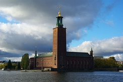Stockholm City Hall, where the Nobel Banquet takes place on 10 December each year.