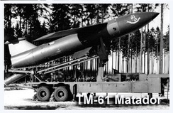 TM-61 Matador Missile on its launcher in Germany