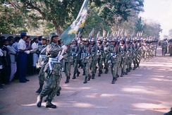 LTTE women's wing marching in a parade.