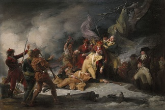 The Death of General Montgomery in the Attack on Quebec, December 31, 1775John Trumbull, 1786.