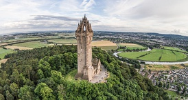 The Wallace Monument commemorates William Wallace, the 13th-century Scottish hero