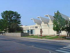 The College of Environment and Design building at the University of Georgia is a LEED certified structure that features 72 solar panels and water reclamation technology.
