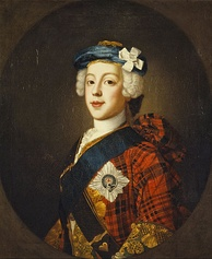 Charles Edward Stuart, known as The Young Pretender and Bonnie Prince Charlie, who led the '45 rising