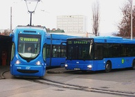 ZET tram and city bus