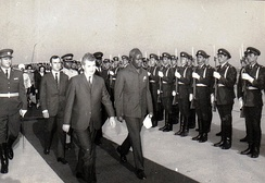 Kenneth Kaunda, first Republican president, on a state visit to Romania in 1986.