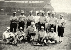 The 1888 Washington Nationals at Boston's South End Grounds