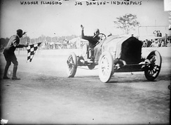 Joe Dawson winning the 1912 Indianapolis 500.