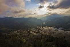 Rice-terraced mountains of Yuanyang county