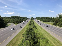 I-95 in Columbia, Maryland, built to modern standards