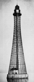 Hyperboloid lattice lighthouse by Vladimir Shukhov, Ukraine, 1911