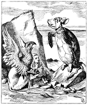 The Mock Turtle, The Gryphon and Alice