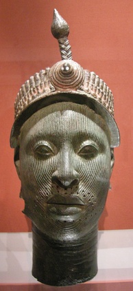 "12th century ""Bronze Head from Ife"", actually of ""heavily leaded zinc-brass"""