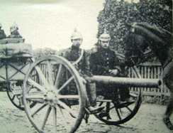 German artillery shown on a 1914 postcard