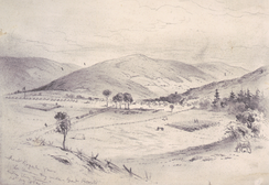 Front Royal Va.—The Union Army under Banks entering the town, drawing by Edwin Forbes.