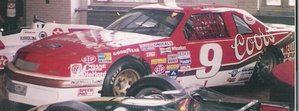Bill Elliott's Melling Racing car that set the record for the fastest lap in a stock car – 212.809 mph (342.483 km/h), 44.998 seconds at Talladega Superspeedway.