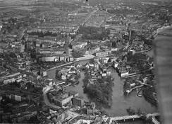 Aerial view of pre-war Breslau, 1920