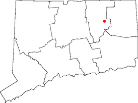 Location of Storrs in Connecticut