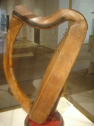 One of only three surviving medieval Gaelic harps (Museum of Scotland)