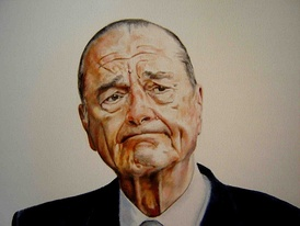 Portrait of Jacques Chirac by Donald Sheridan