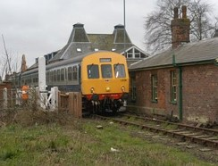 The Mid-Norfolk Railway at Dereham railway station.
