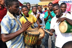 Traditional drummers in Ghana