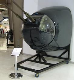 Emerson nose turret from the Neptune at the National Naval Aviation Museum, Florida, 2007