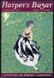 Cover of Harper's Bazaar by Erté (1922)
