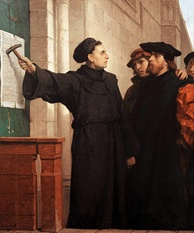 Ferdinand Pauwels – Martin Luther hammers his 95 theses to the door