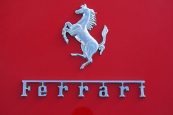 The Cavallino Rampante with Ferrari lettering