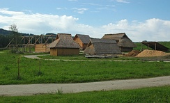 Reconstruction of an early medieval peasant village in Bavaria