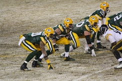 The Green Bay Packers offensive line