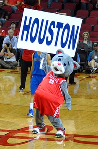 Clutch the Bear is the Rockets' mascot.