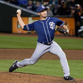Street pitching for the San Diego Padres in 2013