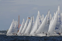 J/24 one-design sailboats racing