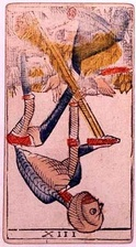 The upside-down Death tarot card