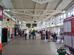 Interior of Keighley bus station